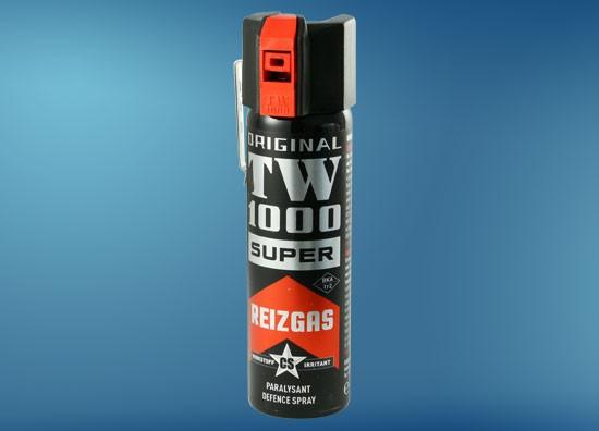 TW1000 Super CS 75 ml, Abwehrspray mit Weitstrahlventil, Metallclip