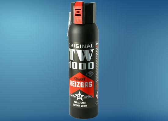 TW1000 Gigant CS 150 ml, Abwehrspray mit Weitstrahlventil, Metallclip