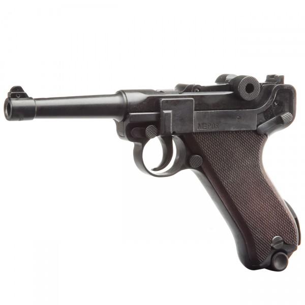 ME Mod. P 08, Kal. 9 mm P.A. Knall, schwarz brüniert